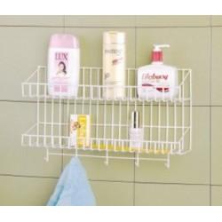 Rak Tempat Shampoo Sabun Bumbu Dapur Gantungan Handuk Centelan Serbet