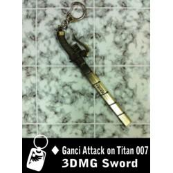 Gantungan Kunci Attack Of Titan 3D MG Sword