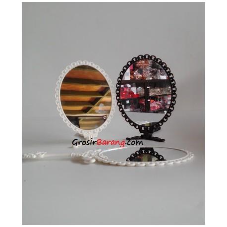 cermin vintage inggris cermin genggam tangan duduk dekor