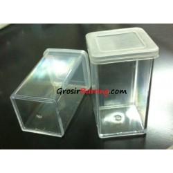 Kotak Aksesoris Bening Transparant Benik Jarum Manik Kancing Peniti