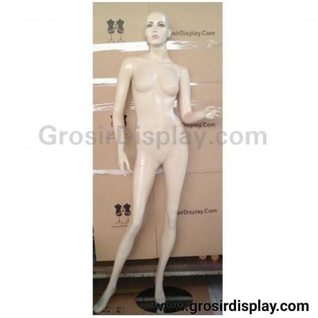 Manekin Full Body Patung Cewe Rambut Fiber Exclusive Pajangan Display Perlengkapan Toko Wanita Butik
