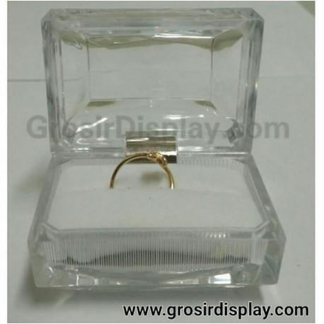 Kotak Tempat Cincin Putih Isi 2 Kristal Ring Box Crystal Perlengkapan Seserahan Lamaran Toko Perhiasan