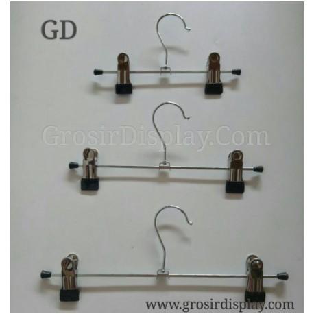 Hanger Jepit Tulang 30 cm Stainless Gantungan Celana Rok Bawahan
