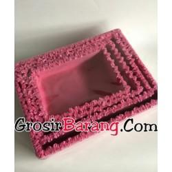 Set Nampan Kotak Seserahan Pernikahan Warna Pink Isi 4 Nampan Sangjit