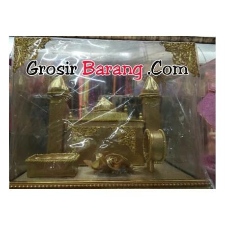 Paket Seserahan Pernikahan Bentuk Masjid Tempat Perhiasan Gold Murah