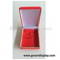 Kotak Tempat Perhiasan Persegi Merah List Gold Bludru Perlengkapan Seserahan Pajangan Toko Perhiasan