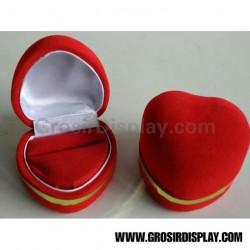 Kotak Display Cincin Besar Bentuk Love List Gold Perlengkapan Pajangan Perhiasan Lamaran Seserahan Pernikahan