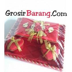 Nampan Seserahan Kotak Merah Double Love Perlengkapan Sangjit Murah