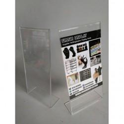 Akrilik Tempat Brosur A4/3 Satu Sisi Acrylic Pajangan Promo