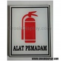 Stiker Akrilik Tempelan Logo Alat Pemadam Kebakaran Perlengkapan Petunjuk Gedung Hotel Restoran