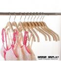 Hanger Kayu Zara Slip Gantungan Baju Anak Remaja Premium Anti Selip