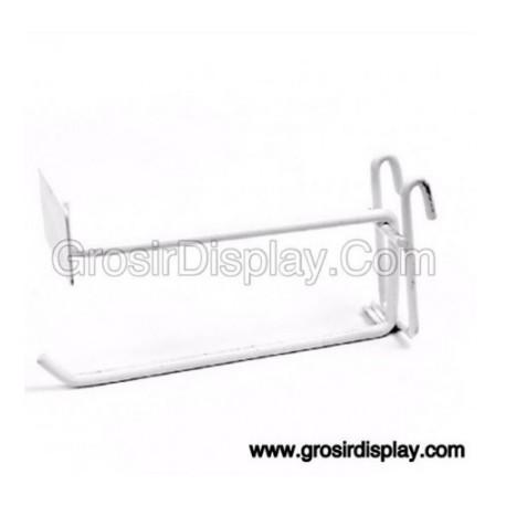 Gantungan Hook Ram Plat Harga 30 cm Putih Tebal Kuat Gantungan Aksesoris Perlengkapan Toko