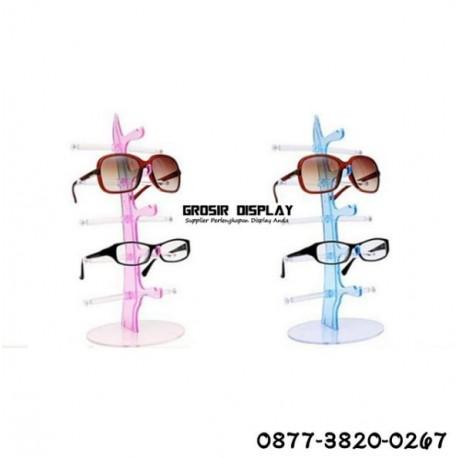 Rak Akrilik Display Kacamata 5 Susun Bongkar Pasang Warna