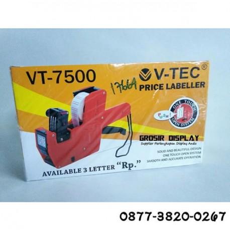 Tembakan Label Harga 1 Line V-TEC 7500 Labeller 1 Stiker Tempelan Harga