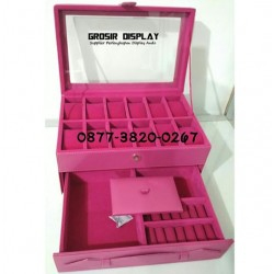 Box Kotak Tempat Jam Mix Cincin Perhiasan Bludru