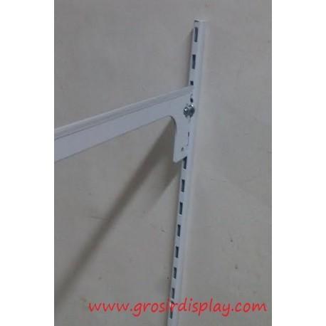 Tiang Braket 1,5 m Putih Penyangga Rak Kayu/Kaca