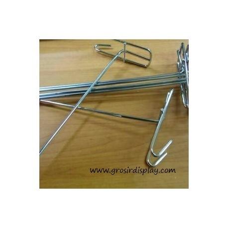 Gantungan Hook Ram Krom Medium 25 cm Display Perlengkapan Toko Aksesoris