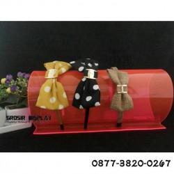 Display Bando Akrilik Warna-Warni Single 1 Susun Tempat Perhiasan Aksesoris Kepala Rak Pajangan Toko