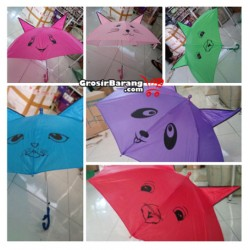 Payung Anak Karakter Hewan Kuping Besar Hadiah Lebaran Payung Tongkat