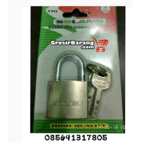 Gembok Kunci 30 mm Leher Pendek Gembok Rumah Pintu Kamar Kos Murah