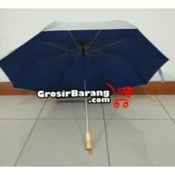 Payung Lipat 2 Silver Payung Polos Dalam Warna-Warni Sablon Payung