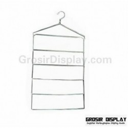Hanger Jilbab Kerudung Syal Kotak Besar Krom Display Toko Butik