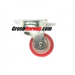 Roda Caster 2 Gepeng Red Murah Roda Etalase Roda Troly Meja Grosir