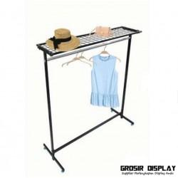Gawang Display Baju Berdiri Atas Rak Standar