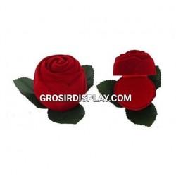 Display Kotak Cincin Isi 2 Mawar Bludru Stand Ring Unik Perlengkapan Seserahan