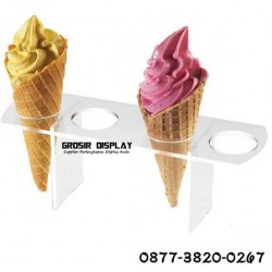 Akrilik Stand Display Cone Ice Cream