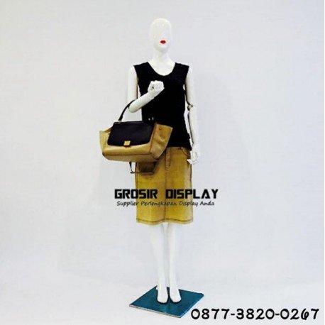 Patung Manekin Alien Cewe Full Body Wanita Fiber Tangan Robot Display Baju Perlengkapan Toko Butik