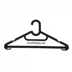 Hanger Laundry Flash Hitam Plastik Gantungan Baju Kaos