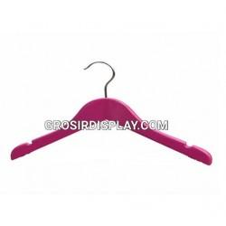 Hanger Kayu Gantungan Baju Standard Pink Tanpa Palang Perlengkapan Display Toko Distro