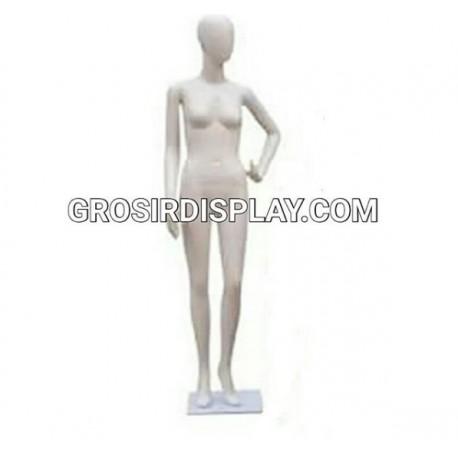 Patung Manekin Alien Cewe Full Body Wanita Fiber Tangan Lepasan Display Baju Perlengkapan Toko Butik