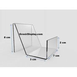 Akrilik Tempat Dompet Mini 1 Susun Acrylic Stand Handphone Satuan