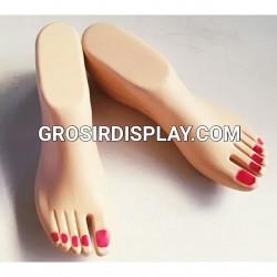 Manekin Telapak Kaki Jari Plastik Tebal Display Sepatu Sandal Wanita