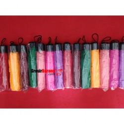 Payung Lipat 2 SUPER Polos Payung Souvenir Warna Warni