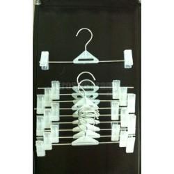 Gantungan Hanger Jepit Celana Rok Bawahan Putih