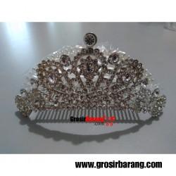 Mahkota Wedding Akseosoris Sisir Crown Princess