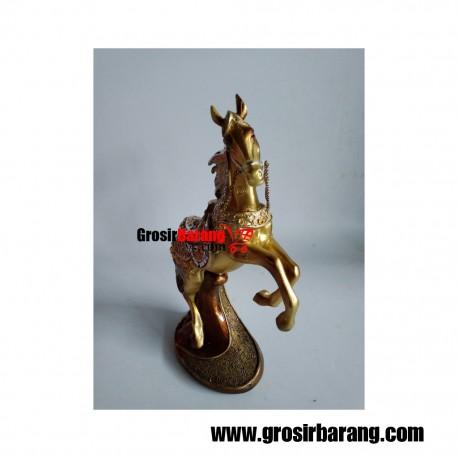 Pajangan Patung Kuda Dekorasi Ruang Tamu Miniatur Minimalis