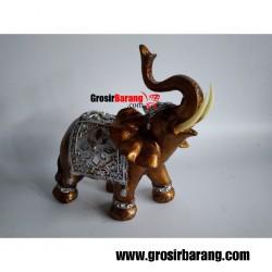 Pajangan Ruang Tamu Gajah Hiasan Minimalis Miniatur Patung