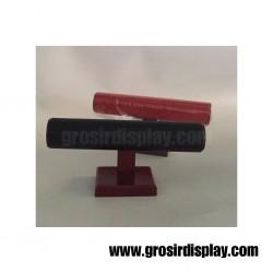 Display Gelang 1 Susun Semi Kulit Import Pajangan Gelang Jam Tangan