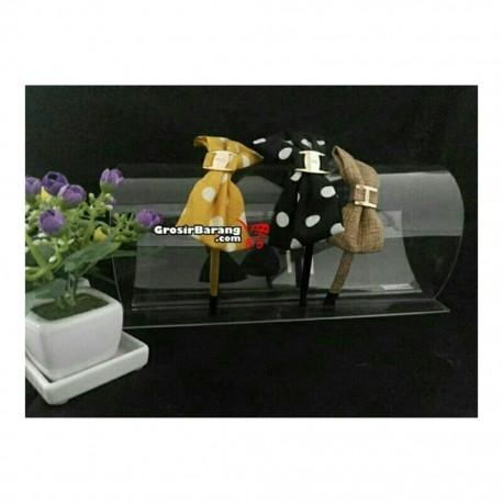 Display Bando Bening Akrilik Transparan Tempat Aksesoris Kepala