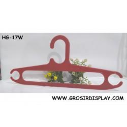 Hanger Oval 17'' Warna Merah HG-17W Kualitas Super Gantungan Pakaian