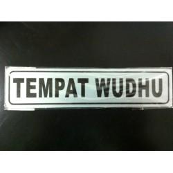 Sticker Tulisan Peringatan Petunjuk Tempat Wudhu Mushola