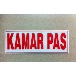 Stiker Tanda Peringatan Tulisan Kamar Pas Pajangan Toko Butik