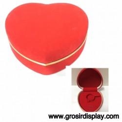 Kotak Tempat Perhiasan Love Merah List Gold