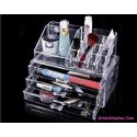 Display Akrilik Rak Kosmetik 3 Laci Tempat Lipstik Make up