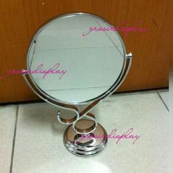 Cermin Meja Berdiri Kaca Bingkai Plastik