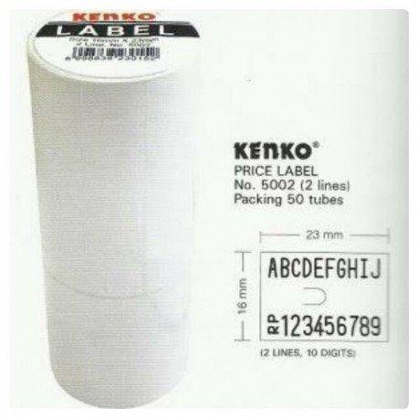 Isi Ulang Tembakan Tempelan Harga Labeller 2 Line Kenko